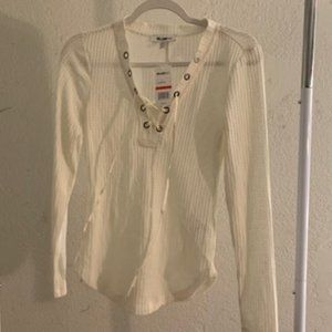 William Rast Revival Marshmallow White Top XS NWT